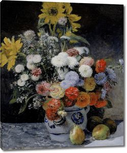 Пьер Огюст Ренуар. Цветы в глиняном горшке