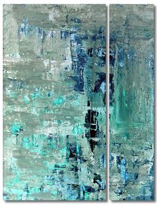 Blue and Turquoise Abstract Art Painting