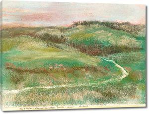 Дега - Пейзаж, 1892