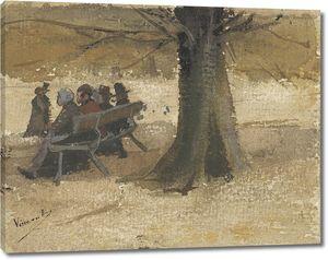 Ван Гог. Четверо людей на скамейке