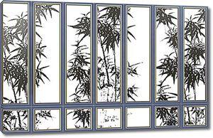Растения за решетчатым окном
