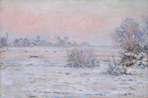 Моне Клод. Зимнее Солнце, 1879-80