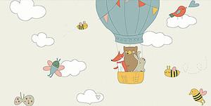 Животные в корзине воздушного шара