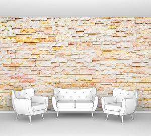 Пестрая каменная стена