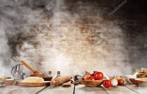 Выпечка ингредиенты на деревянный стол