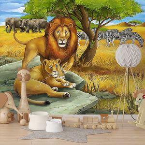 Сафари со львами  рисунок
