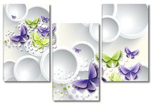 Абстрактные бабочки с кругами