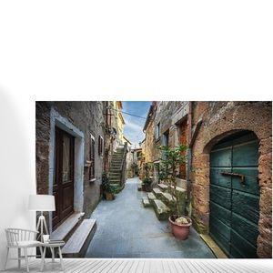 Весенние улицы Старого города Тосканы. Красочные цветы Блум и ароматные