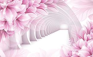 Розовые своды в цветах