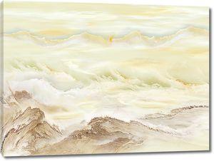 Горы в структуре камня