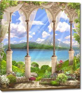 Арки с видом на горы и море