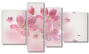 Три розовых лютика
