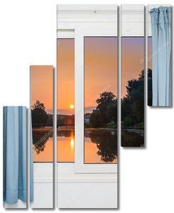 Вид из окна на озеро