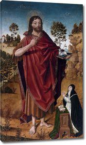 Де ла  Крус Диего. Иоанн Креститель с донаторкой