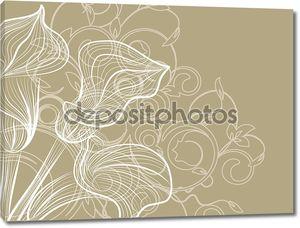 Декоративная цветочная абстракция