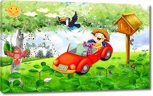 Автомобиль на полянке