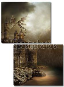 Фантазии замка с драконом
