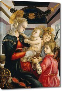 Боттичелли. Мадонна с младенцем и два ангела