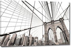 Манхэттенский мост, Нью-Йорк. США .