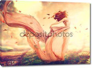 осенняя фэнтезийная девочка