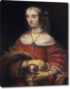 Рембрандт. Портрет дамы с собачкой