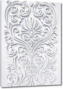 красивые цветочные Белый 3d орнамент