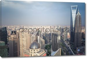 Современные здания вид с воздуха