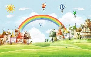 Окрашенные город, Радуга и воздушные шары