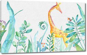 Жираф в зарослях