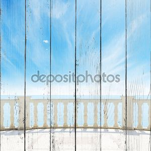 Вид на пасмурное небо с балкона