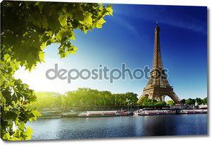 Сена в Париже с Эйфелевой башни