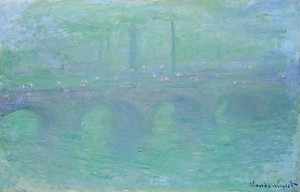 Моне Клод. Мост Ватерлоо, Лондон, в сумерках, 1904