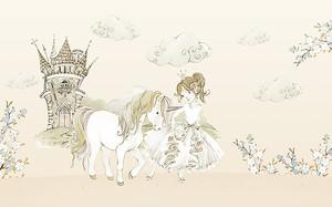 Принцесса с единорогом