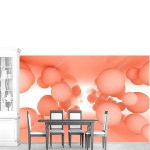 Абстрактный геометрический фон с шариками в туннеле. 3D иллюстрация .