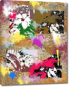 Абстракция с яркими красками