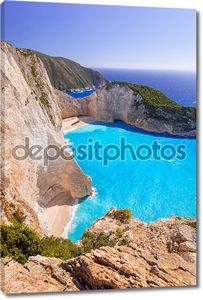 Красивый пляж в Греции