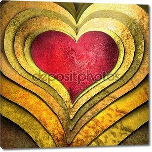 сердце для любви, свадьбы, день Святого Валентина или Романтика
