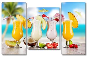 Четыре различных коктейля