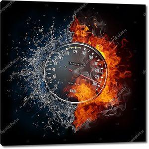 Спидометр в огне