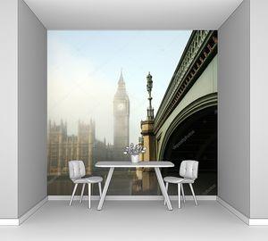 Вестминстерский дворец и мост в тумане