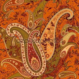 бесшовный рисунок пейслинской шали
