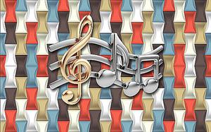 Скрипичный ключ и ноты