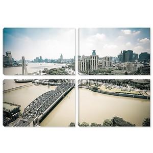 Шанхайская набережная Бунд в дневное время