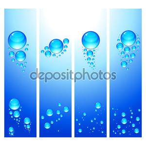 EPS набор вертикальных баннеров с водяные пузыри.