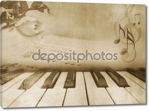 Фоновая музыка - старинные пианино дизайн