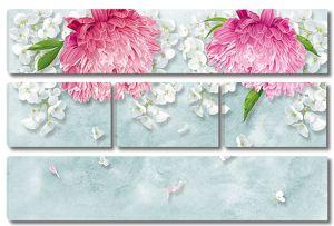 Пионы с мелкими цветочками