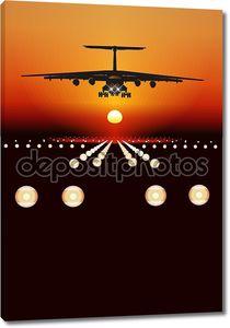 Вектор грузовой самолет