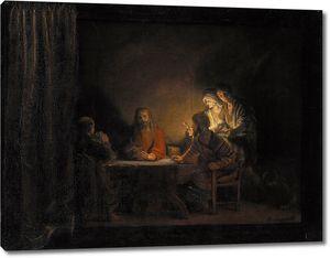 Мастерская Рембрандта. Ужин в Эммаусе