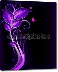 Цветочные фиолетовый фон. Вектор