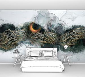 Луна в абстрактных горах
